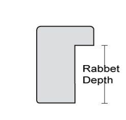 What is rabbet depth?