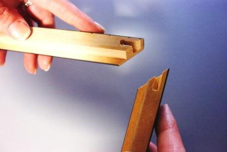 How to assemble wood sectional frames
