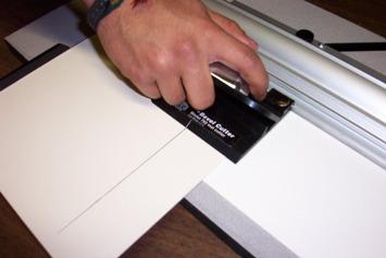 Simplex Mat Cutter Cutting